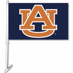 Auburn Tigers Car Flag with Wall Brackett - Blue Logo Design [97245-FS-BSI]