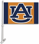 Auburn Tigers Car Flag with Wall Brackett - Orange Logo Design [97145-FS-BSI]