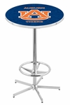 Auburn University 42''H Chrome Finish Bar Height Pub Table with Foot Ring [L216C42AUBURN-FS-HOB]