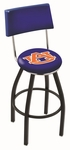 Auburn University 25'' Black Wrinkle Finish Swivel Counter Height Stool with Cushioned Back [L8B425AUBURN-FS-HOB]