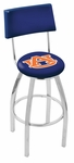 Auburn University 25'' Chrome Finish Swivel Counter Height Stool with Cushioned Back [L8C425AUBURN-FS-HOB]