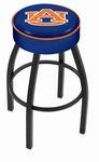 Auburn University 25'' Black Wrinkle Finish Swivel Backless Counter Height Stool with 4'' Thick Seat [L8B125AUBURN-FS-HOB]