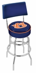 Auburn University 25'' Chrome Finish Swivel Counter Height Stool with Double Ring Base [L7C425AUBURN-FS-HOB]