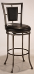 Auckland 24'' Counter Height Stool with Black Leather Swivel Seat - Oyster Stone [4262-826-FS-HILL]