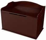 Austin Wooden Spacious Toy Box with Bench Seating Flip-top Lid - Cherry [14955-FS-KK]