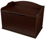 Austin Wooden Spacious Toy Box with Bench Seating Flip-top Lid - Espresso