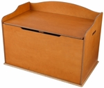 Austin Wooden Spacious Toy Box with Bench Seating Flip-top Lid - Honey [14954-FS-KK]