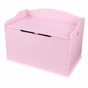 Austin Wooden Spacious Toy Box with Bench Seating Flip-top Lid - Pink