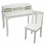 Avalon Kids Wooden Writing Desk with Desk-Top Hutch - White [26705-FS-KK]