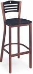 Avalon Metal Bar Stool with Circle and Slat Back [198-FS-CMF]