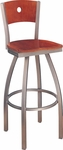 Avalon Swivel Bar Stool with Circle Back [189-FS-CMF]