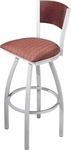 Avalon Swivel Bar Stool with Perforated Back [179-FS-CMF]
