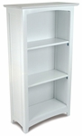 Avalon 45.81''H Tall Childs Wood Bookshelf with Three Shelves - White [14001-FS-KK]