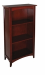 Avalon 45.81''H Tall Childs Wood Bookshelf with Three Shelves - Cherry [14031-FS-KK]