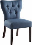 Ave Six Andrew Armless Fabric Chair with Solid Wood Legs - Klein Azure [AND-K14-FS-OS]