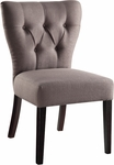 Ave Six Andrew Armless Fabric Chair with Solid Wood Legs - Klein Otter [AND-K12-FS-OS]