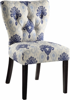 Ave Six Andrew Armless Fabric Chair With Solid Wood Legs