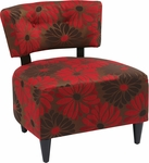 Ave Six Boulevard Armless Lounge Chair - Groovy Red [BLV-G14-FS-OS]