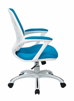 Ave Six Calvin Mesh Office Chair With White Frame And