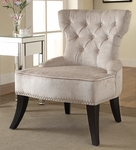Ave Six Colton Vintage Style Button Tufted Velvet Chair - Brilliance Parchment Cream [CLT-B45-FS-OS]