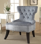 Ave Six Colton Vintage Style Button Tufted Velvet Chair - Brilliance Sea Blue [CLT-B46-FS-OS]