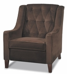 Ave Six Curves Tufted Velvet Upholstered Arm Chair - Chocolate [CVS51-C12-FS-OS]
