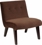 Ave Six Curves Valencia Accent Chair with Espresso Finish Wood - Chocolate Velvet [VAL51N-C12-FS-OS]