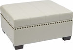 Ave Six Detour Eco Leather Storage Ottoman with Tray - Cream [DTR3630-CMBD-FS-OS]