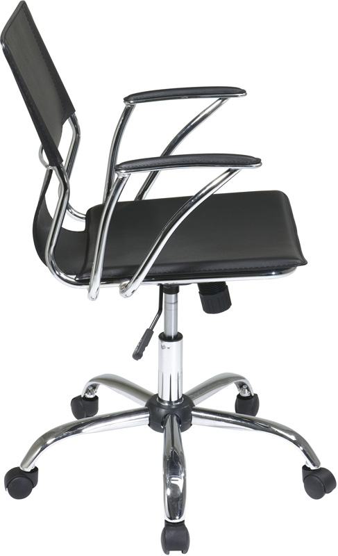 Ave Six Dorado Contour Seat And Back Vinyl Office Chair With Heavy Duty Chrom