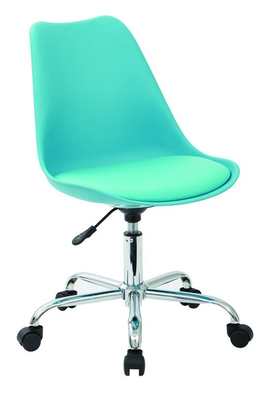 Ave Six Emerson Armless Task Chair with Chrome Base and  : ave six emerson task chair in teal with pneumatic chrome base ems26 7 fs os 4 Armless Desk Chairs <strong>On Casters</strong> from www.bizchair.com size 559 x 800 jpeg 639kB