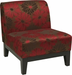 Ave Six Glen Armless Fabric Lounge Chair - Groovy Red [GLN51-G14-FS-OS]