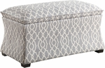 Ave Six Hourglass Storage Ottoman - Abby Geo Grey [HG3218-G16-FS-OS]