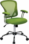 Ave Six Juliana Task Chair with Mesh Seat - Green [JUL26-6-FS-OS]