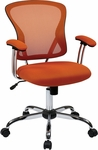 Ave Six Juliana Task Chair with Mesh Seat - Orange [JUL26-18-FS-OS]
