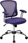 Ave Six Juliana Task Chair with Mesh Seat - Purple [JUL26-512-FS-OS]