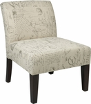 Ave Six Laguna Chair - Script Fabric [LAG51-S13-FS-OS]