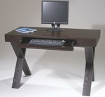 Ave Six Lane Computer Desk with Pull Out Keyboard Drawer with Drop Down Front - Espresso [LAN25ES-FS-OS]