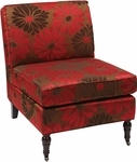 Ave Six Madrid Chair Accent Chair with Solid Wood Legs and Casters - Groovy Red [MAD51-G14-FS-OS]