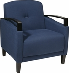 Ave Six Main Street Chair with Espresso Finish Legs and Curved Arms - Indigo [MST51-W17-FS-OS]