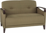 Ave Six Main Street Loveseat with Espresso Finish Legs and Curved Arms - Seaweed [MST52-S22-FS-OS]