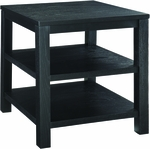 Ave Six Merge 20'' Square End Table with Solid Wood Legs - Black [MRG09S-BK-FS-OS]