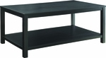 Ave Six Merge 42'' Rectangular Cocktail Table with Solid Wood Legs - Black [MRG12R-BK-FS-OS]