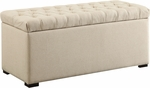 Ave Six Sahara Tufted Fabric Storage Bench with Solid Wood Legs - Linen [SAH3917-X14-FS-OS]