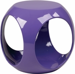 Ave Six Slick Modern Cube Occasional Table - Purple [SLK512-FS-OS]