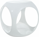 Ave Six Slick Modern Cube Occasional Table - White [SLK311-FS-OS]