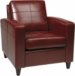 Ave Six Venus Eco Leather Club Chair with Solid Wood Legs - Cherry [VNS51A-CBD-FS-OS]