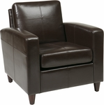 Ave Six Venus Eco Leather Club Chair with Solid Wood Legs - Espresso [VNS51A-EBD-FS-OS]