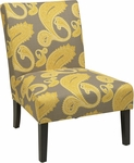 Ave Six Solid Wood Frame Victoria Chair with High Performance Fabric Upholstery - Sweden Dijon [VCT51-S38-FS-OS]