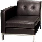 Ave Six Wall Street LAF Faux Leather Single Armed Chair - Espresso [WST51LF-E34-FS-OS]