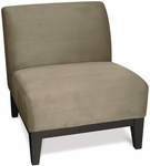 Ave Six Glen Armless Fabric Lounge Chair - Glenn Stone [GLN51-S62-FS-OS]